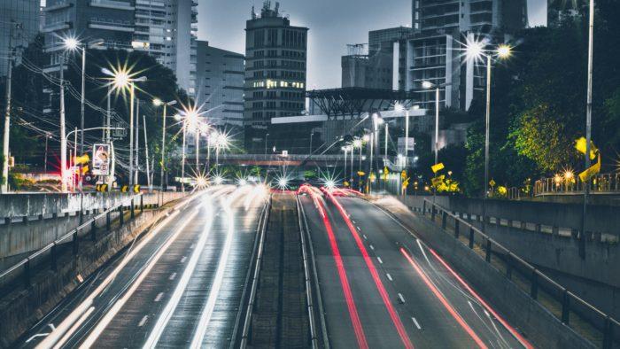 Straße lange belichtung